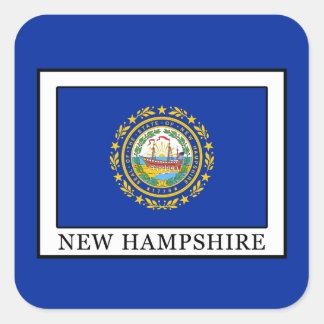New Hampshire Square Sticker