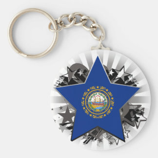 New Hampshire Star Key Chains