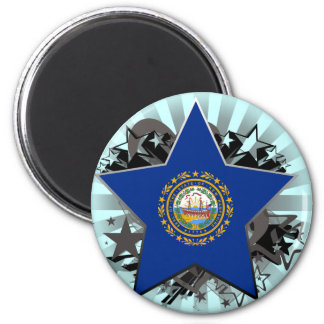 New Hampshire Star Magnet