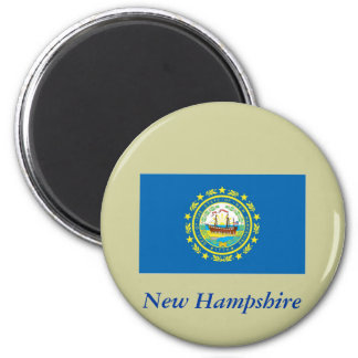 New Hampshire State Flag 2 Inch Round Magnet