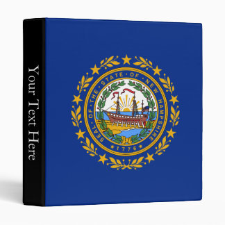 New Hampshire State Flag 3 Ring Binder