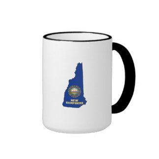 New Hampshire State Flag and Map Coffee Mug