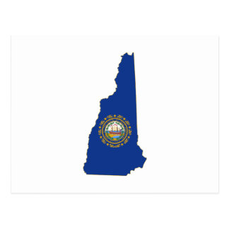 New Hampshire State Flag and Map Postcard