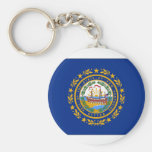 New Hampshire State Flag Basic Round Button Keychain