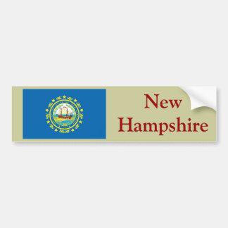 New Hampshire State Flag Bumper Sticker