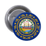 New Hampshire State Flag Buttons