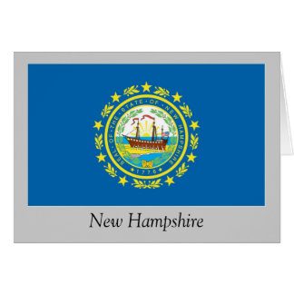 New Hampshire State Flag Card