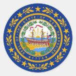 New Hampshire State Flag Classic Round Sticker