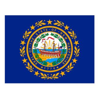 New Hampshire State Flag Design Postcard