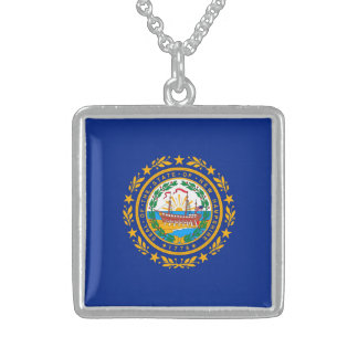 New Hampshire State Flag Design Sterling Silver Necklace