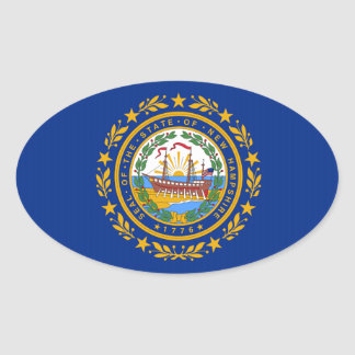 New Hampshire State Flag Oval Sticker