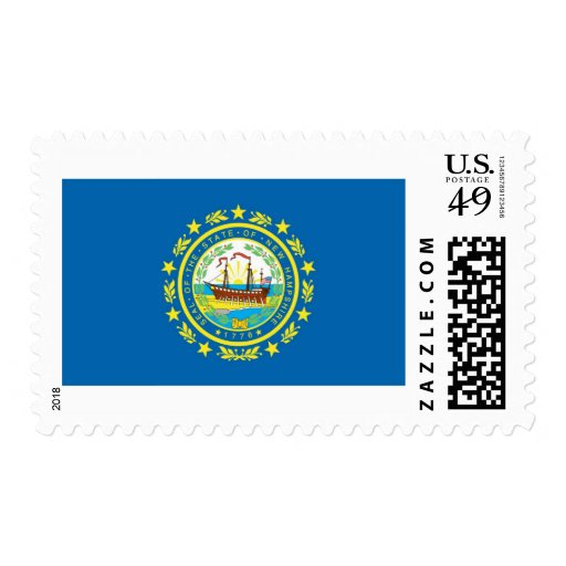 New Hampshire State Flag Postage Stamps