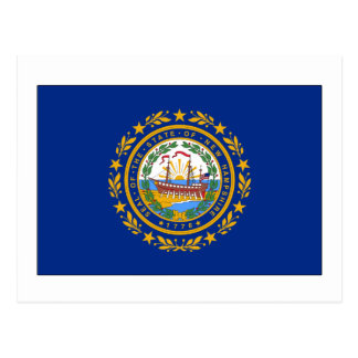 New Hampshire State Flag Postcard