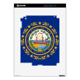 New Hampshire State Flag Decals For The iPad 2