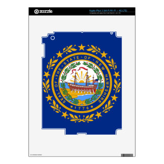 New Hampshire State Flag Decal For iPad 3