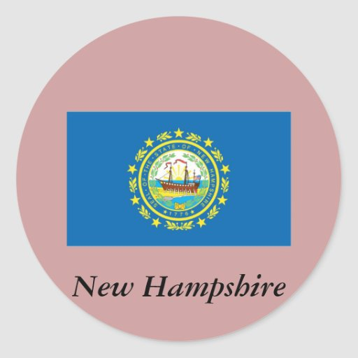 New Hampshire State Flag Stickers