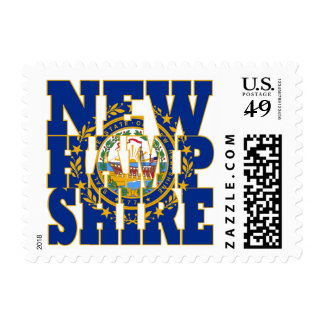 New Hampshire  state flag text Postage