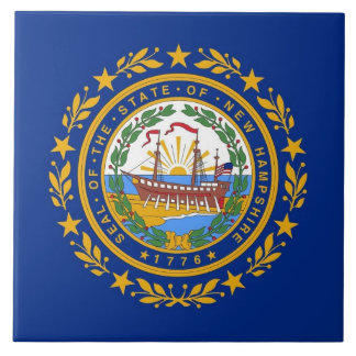 New Hampshire State Flag Tile