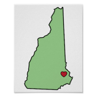 New Hampshire State Love Poster