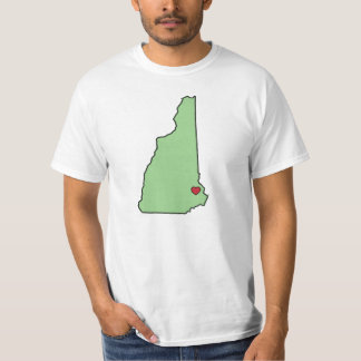 New Hampshire State Love T-Shirt