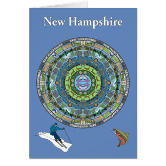 New Hampshire State Mandala Greeting Card
