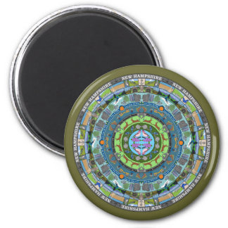 New Hampshire State Mandala Magnet