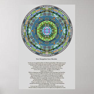 New Hampshire State Mandala Poster