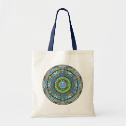 New Hampshire State Mandala Tote Bag