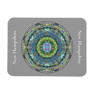 New Hampshire State Mandala Vinyl Magnet