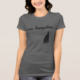 New Hampshire State on Ladies T-shirt