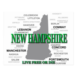 New Hampshire State Postcard