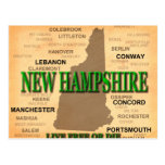 New Hampshire State Pride Map Silhouette Post Cards