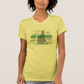 New Hampshire State Pride Map Silhouette T-Shirt