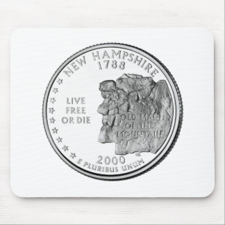 New Hampshire State Quarter Mouse Pad