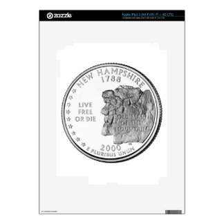 New Hampshire State Quarter Decals For iPad 3