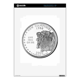 New Hampshire State Quarter Skins For iPad 2