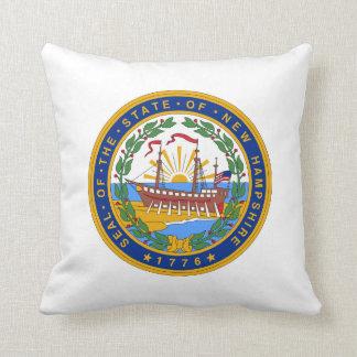 New Hampshire state seal america republic symbol f Throw Pillow