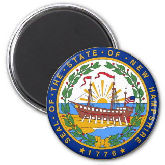 New Hampshire State Seal and Motto Magnet