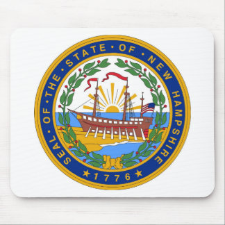 New Hampshire State Seal and Motto Mouse Pad