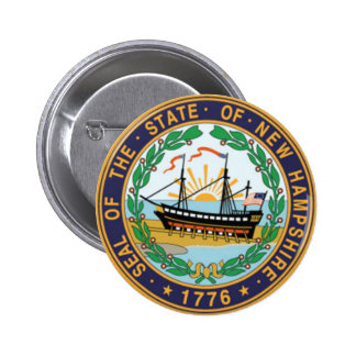 New Hampshire State Seal Pinback Button