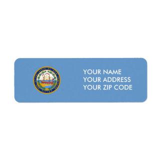 New Hampshire State Seal Return Address Label