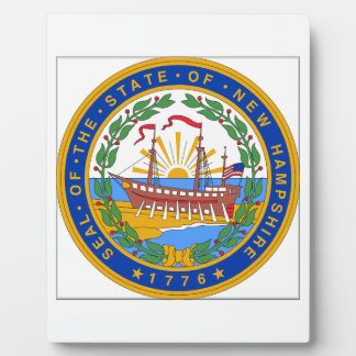 New Hampshire State Seal Display Plaque
