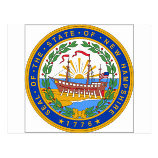 New Hampshire State Seal Postcard
