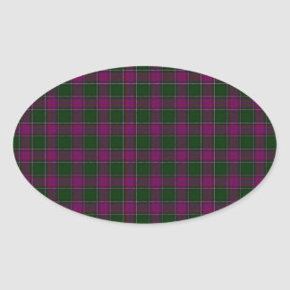 New Hampshire State Tartan Oval Stickers
