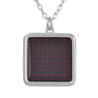 New Hampshire State Tartan Silver Plated Necklace