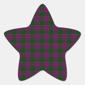 New Hampshire State Tartan Star Sticker