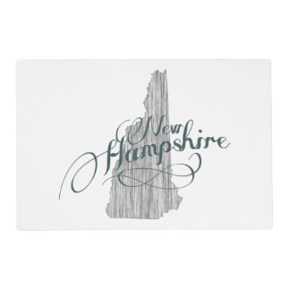 New Hampshire State Typography Placemat
