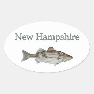 New Hampshire (striped bass) Oval Sticker