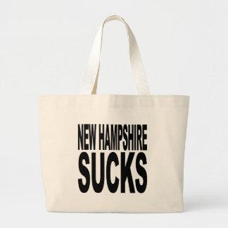 New Hampshire Sucks Canvas Bags