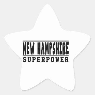 New Hampshire Superpower Designs Star Sticker